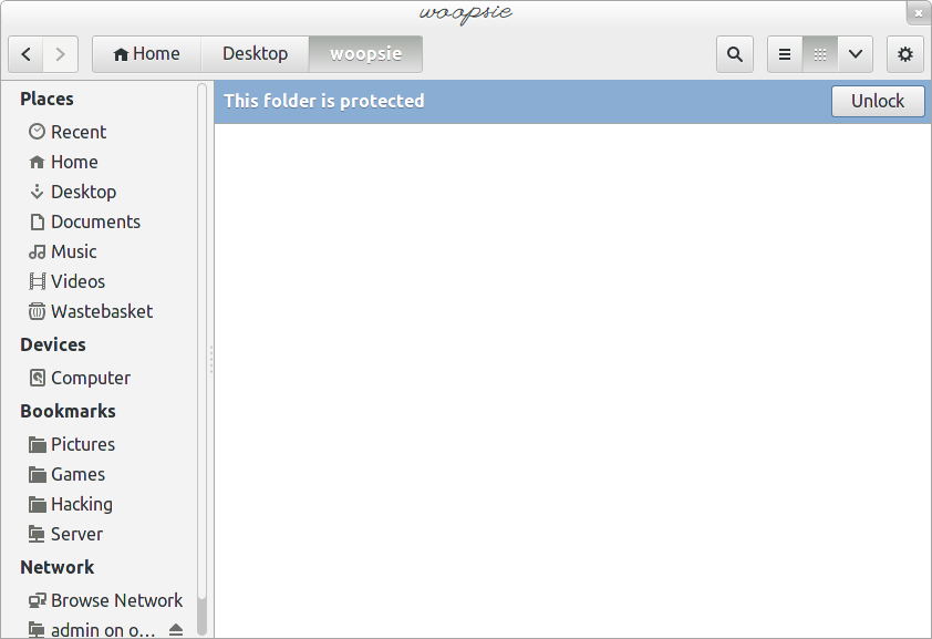 Accessing an encrypted folder